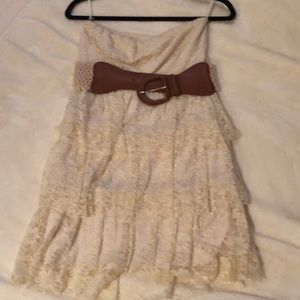 Rue21 Dresses - Ruffled lace dress with a belt